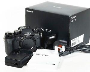 Fujifilm Fuji X-T2 Mirrorless Camera - Body only - Shutter count 21,060
