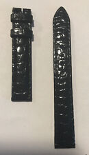 Original Movado Black Alligator Leather Band Strap for Watch 0607010 or 0607009