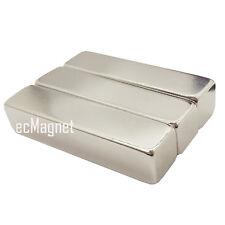 3pcs Super Strong 2 X 1/2 X 1/2 inch Large Bar Cuboid NdFeb Neodymium Magnets