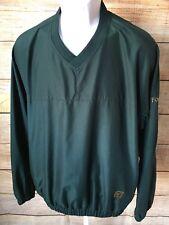 FootJoy Men's Dark Green Golf Wind Pullover Sweater Medium