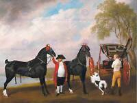 George Stubbs: Lustre 4117 Art Print//Poster held by a Groom