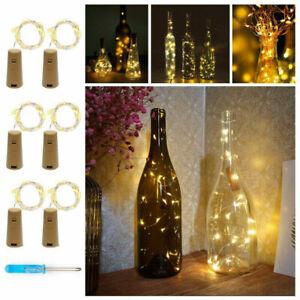 Wine/Gin/Spirit Cork shaped Bottle Fairy lights, 20 LED, 2M PARTY, WEDDINGS
