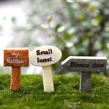 3x Schild Mini Garten Moos Terrarium Bonsai Figuren Micro Landschaft ^
