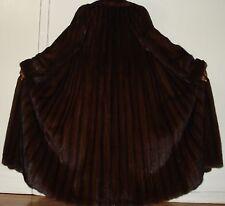 "MAXIMILIAN BLOOMINGDALE 53"" Long Mahogany Mink Fur Coat Size 10-12 Perfect Condi"