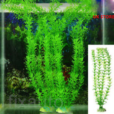 Aquarium Fish Tank Accessories Decor Green Grass Artificial Fake Plastic Plant