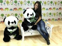 70CM PANDA LARGE ENORMOUS VALENTINE DAY TEDDY STUFFED CUDDLY PLUSH & FREE GIFT