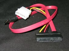 "0.5M(18"") SAS 22(7+15 pin) Female to SATA 7-pin Data Cable w/ Molex Power LP4"