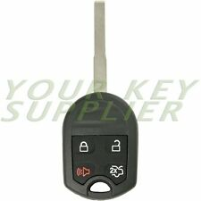 New Uncut Replacement 4 Button Remote Head Key Fob For Ford Fiesta OUCD6000022