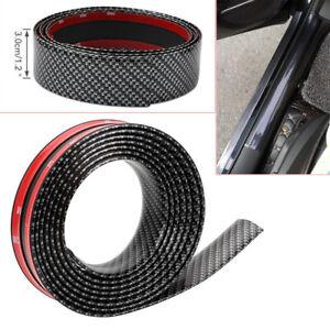 3CM*2M Car Sticker Carbon Fiber Rubber Edge Guard Strip Door Sill Protector Part