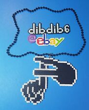 Flux Pavilion kandi perler necklace rave EDC PLUR art melty