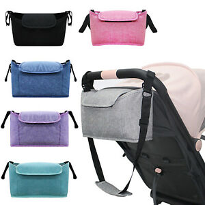Kids Baby Stroller Hanging Bag Pram Organiser Bag Bottle Cup Holder Accessories