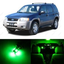 12 x Green LED Interior Light Package For 2001 - 2007 Ford Escape + PRY TOOL