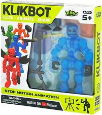 Stickbot Klikbot Animation Action Figure COSMO New Line - New in Box Blue Robot