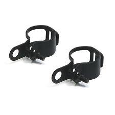31 - 41 mm Adjustable Fork Mount Motorbike Indicator Black Relocation Brackets