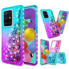 For Samsung Galaxy A51/A71 4G Hybrid  Armor Crystal Bumper Bling Hard Case Cover