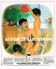 PUBLICITE ADVERTISING 035  1977  ELM LEBLANC  chaudière chauffe-eau & bain