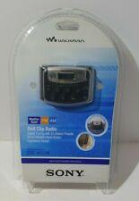 Sony Walkman SRF-M37W Belt Clip Radio FM/AM Headphones New In Sealed Package
