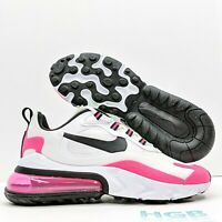 Nike Air Max 270 React Women's Running Training Gym White Black Pink CJ0619-101
