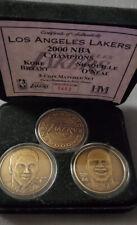 Highland Mint RARE Los Angles Lakers 2000 NBA Champions Bronze 3-Coin Set