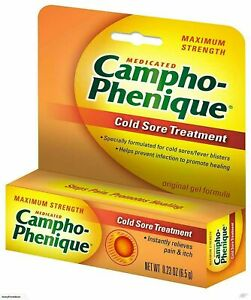 (12 Packs) Campho Phenique Maximum Strength Cold Sore Treatment Gel 0.23 Oz Each