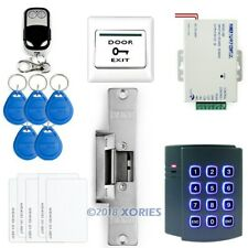 DIY ID Card Access Control Keypad Controller+ E-Strike Lock + Remote Controller