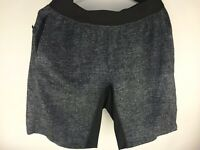 Lululemon Shorts Men's Medium Athletic Black White Stretch Elastic pockets Run