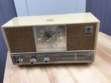 Vintage Mid Century General Electric Solid Atate AM Only Dual Speaker Radio