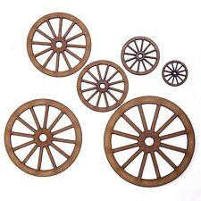 Carriage Wheel Craft Shape, Various Sizes, 2mm MDF Wood. Cart, Coach, Vintage