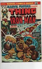 MARVEL FEATURE #12 VF EARLY THANOS APP BLOOD BROTHERS JIM STARLIN THING IRON MAN