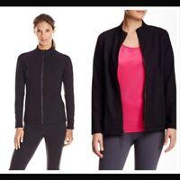 NYDJ Womens Black Long Sleeve Full Zip Stretch Fitted Jacket Size Medium NWT