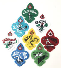 LOT 8 CANADIAN Boy Scouts Sports Activity Patches BSA
