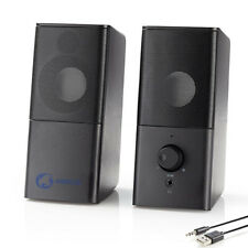 Gaming PC Lautsprecher 2.0 18W Speaker Multimedia Boxen für PC Computer Laptop