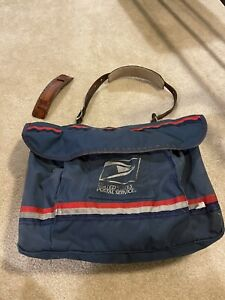 Vintage USPS Mailman Letter Carrier Messenger Bag With Leather Strap