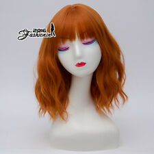 Lolita Fashion Orange Medium Curly 35CM Heat Resistant Party Women Cosplay Wig