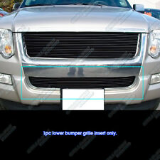 Fits 2006-2007 Ford Explorer Black Main Upper Billet Grille Insert