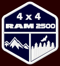 "RAM 2500 4 x 4 EMBROIDERED PATCH ~3-1/2""x 3"" DODGE PICKUP TRUCK OFF ROAD V8 HEMI"