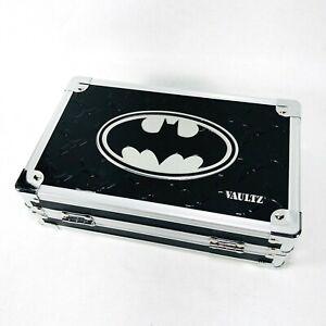 Vaultz DC Marvel Batman Pencil Box Heavy Duty Storage Case Black Chrome No Keys