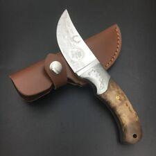 Skinning Knife Hunting Camping Fishing Deer Knives Wood Handle Fixed Blade