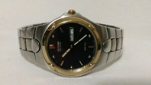 CITIZEN ECO-DRIVE GOLD PLATE & STAINLESS  MENS WATCH