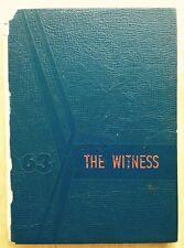 1963 JOHN RANDOLPH TUCKER HIGH SCHOOL YEARBOOK, THE WITNESS, RICHMOND, VA