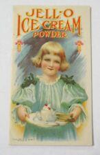 1906 JELL-O ICE CREAM POWDER Advertising and Recipe Booklet (Jello)
