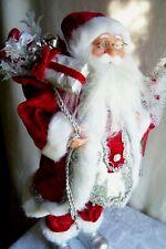 "NEW! Christmas,Collectible,SANTA Tree,Lantern,Red Silver White,Figurine,18"" high"