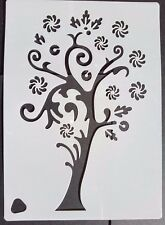 Fairytale Tree Stencil Scrapbooking Card Making Airbrush Painting Home Decor Art