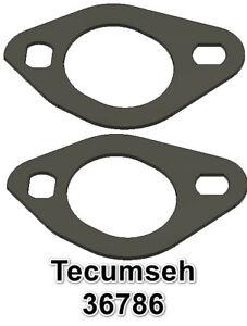 TECUMSEH INTAKE MANIFOLD GASKET 36786 RUBBER / FIBER COMPOSITE USA 2 pcs