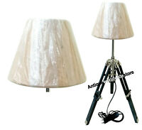 Nautical Marine Table Lamp Black Wooden Tripod Home Decoration