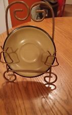 Noritake Folkstone Safari # 8501 Stoneware 5 Saucers Brown And yellow New