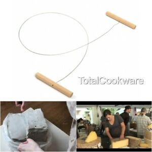 Wire Clay/Cheese Cutter Plasticine Dough Cutting Pottery Tool Beech Handles 70cm