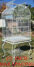 New listing Large Open Dome Top Bird Flight Cage With 1/2-Inch Bar Spacing For Small Birds