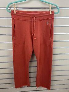 FREE PEOPLE Movement Reyes Cropped Mini Flare French Terry orange Sweatpants XS