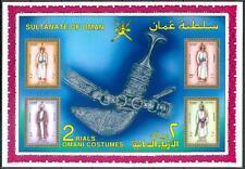 Omán 1989 ** bl.6 hombres Trachten Men costumes Defs